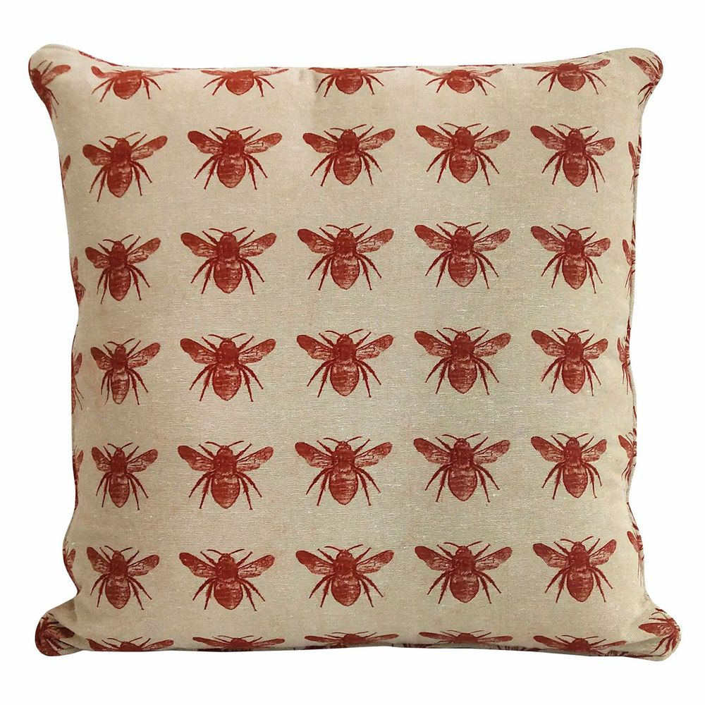 Bee Collection - Cushion - Terracotta Red